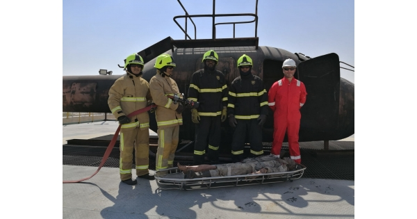 Fire Fighting team during Training - TEYSEER SECURITY SERVICES