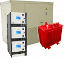 Step-up High voltage substation - Transformer station equipped with transformer and electrical protections. Completed station, delivered pre-wired. The cell allows the protection of multiple network feeders. Removable cells for extra security, once cell allows up to 3 feeders for more compactness.