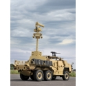 M-CUAS Mounted on HMT600 - M-CUAS is a modular C-UAS system that can be rapidly mounted / dismounted from the back of most flat-bed military vehicles. It provides protection against Class 1 and 2 UAS and can be integrated with weapon stations if required