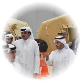 Visit of the Emir and the Minister of Interior of Qatar