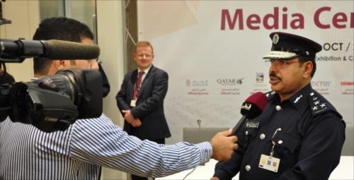 Press conference in the media center