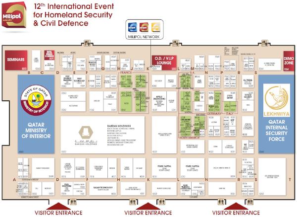 Milipol Qatar 2018 floor plan